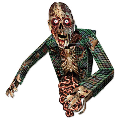 3d zombie 34 wall decoration - Zombie Halloween Decorations