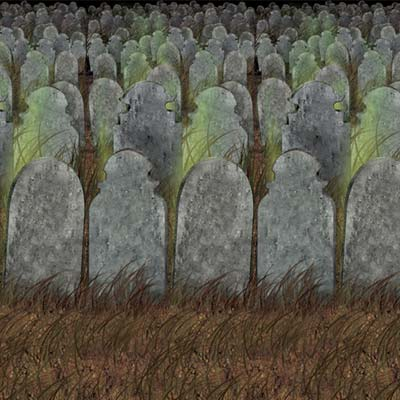 Graveyard Backdrop 30ft