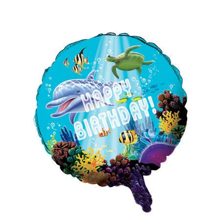 Ocean Party- Happy Birthday Foil Balloon