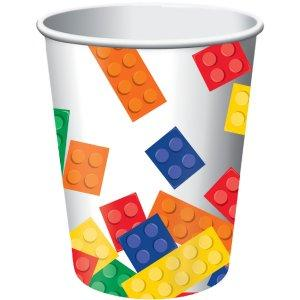 Lego Blocks Party Cups - 8 Pk