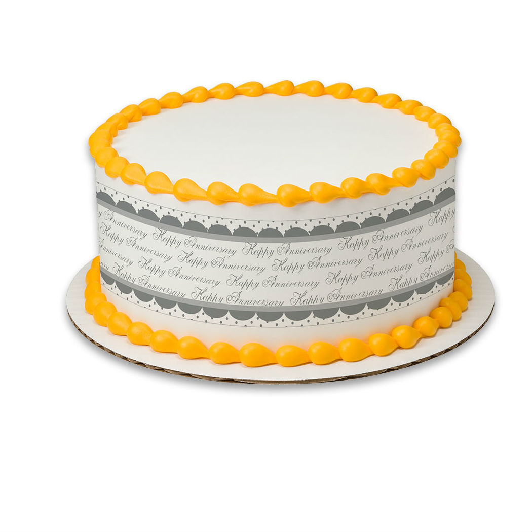 Happy Anniversary Edible Icing Cake Wrap Party Supplies Canada