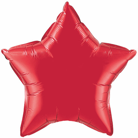 "Ruby Red Star 20"" Foil Balloon"