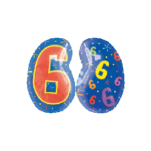 6 Shaped Number Balloon
