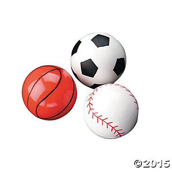 Rubber Sports Bounce Balls - 12 Pack