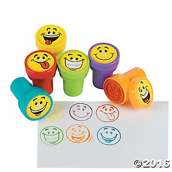 Emoji Self Inking Stampers - 24 Pack