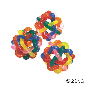 Transparent Intertwined Balls - 12pk