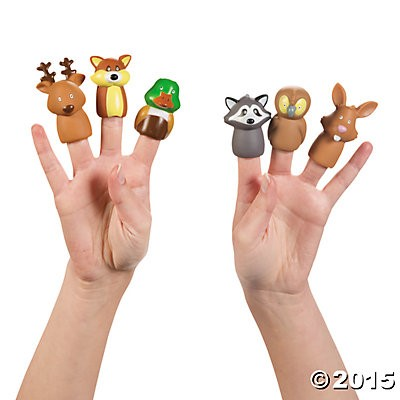 Woodland Character Finger Puppets 24 Pk