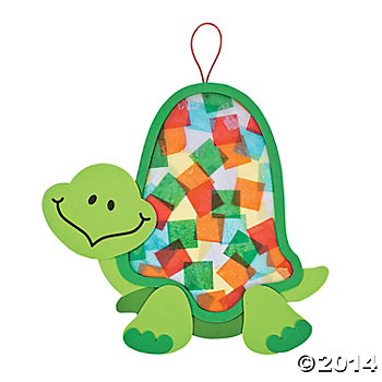 Jumbo Turtle Tissue Craft Kits - 12 Pk