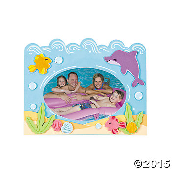 Sea Picture Frame Magnet Craft Kits - 12 Pk