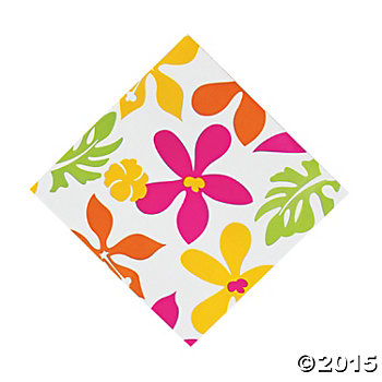 Luau Flower Giant Pack Lunch Napkins - 50 Pk