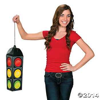 "Traffic Light 15"" Carboard Hanging Decoration"