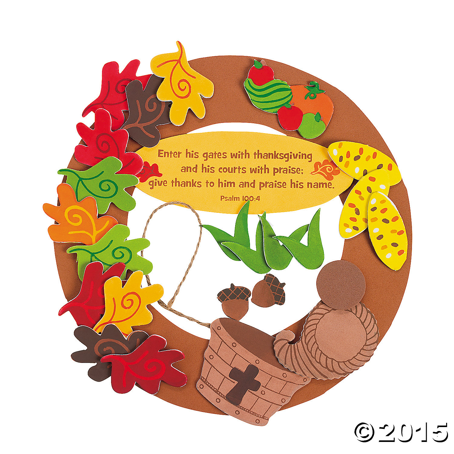 Religious thanksgiving wreath craft kit party supplies for Christian thanksgiving crafts for kids