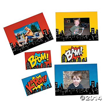Superhero Magnetic Picture Frames 12 Pk
