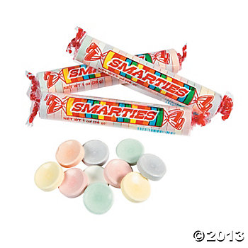 Giant Smarties Roll Candies 36 Pk