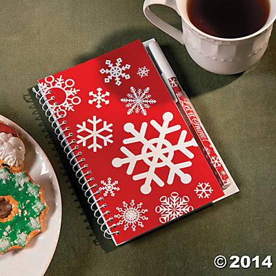 Snowflake Pen and Notepad Sets - 12 Pk