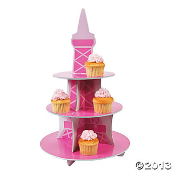 Paris Party Supplies: Deluxe Cupcake Stand