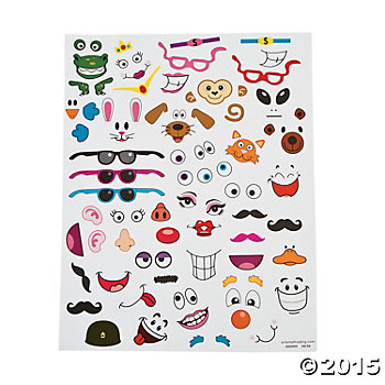 Easter Egg Stickers - 12 Sheets
