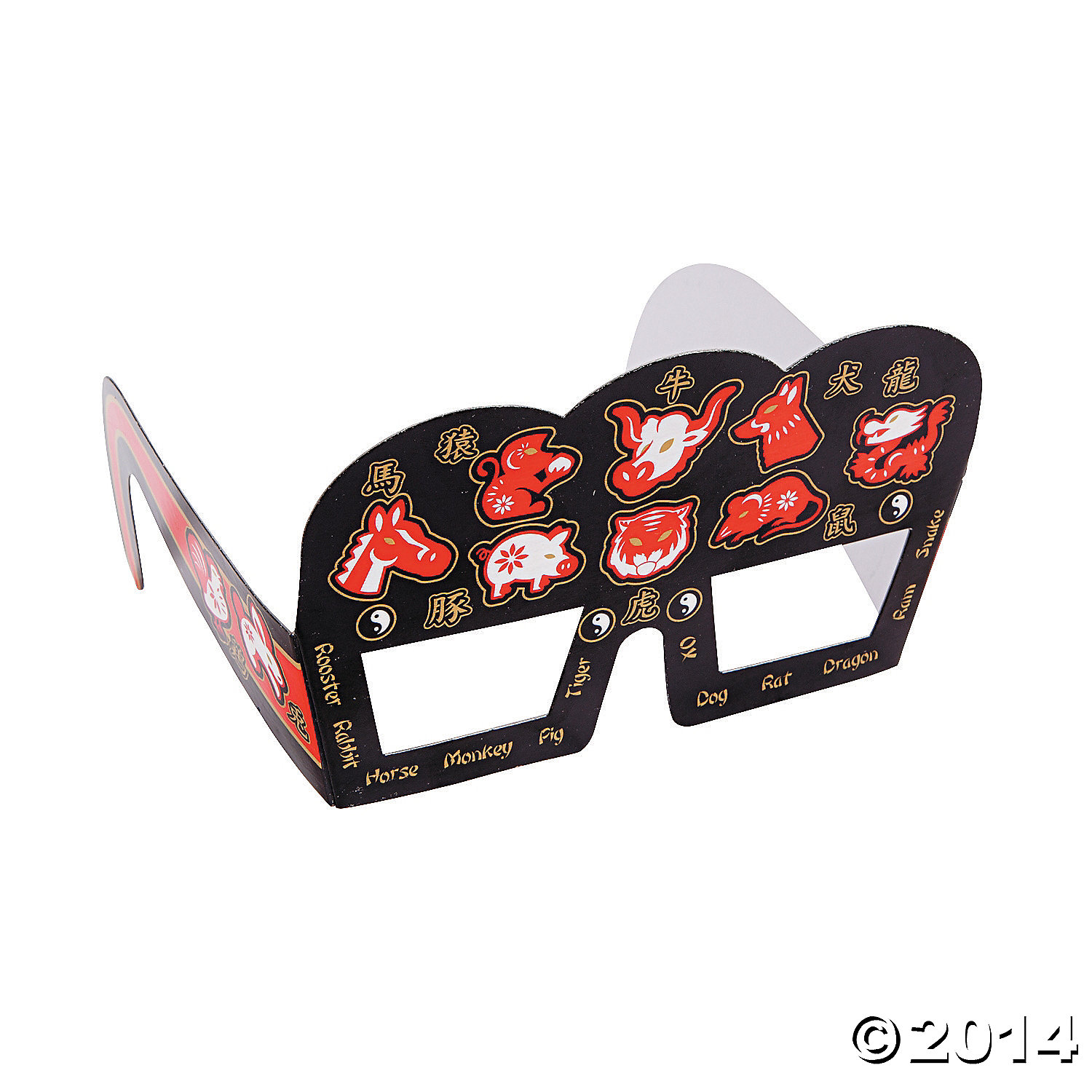 Chinese New Year Eye Glasses 12 Pk