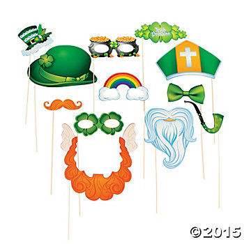 St. Patricks Photo Props - 12 Pk