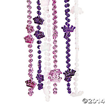 Crown Beaded Necklaces 12 Pk