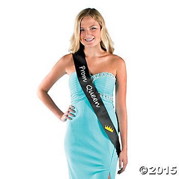 Prom Queen Black Sash