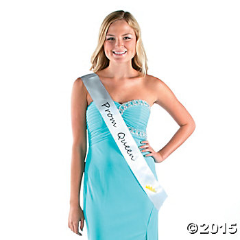 Prom Queen White Sash