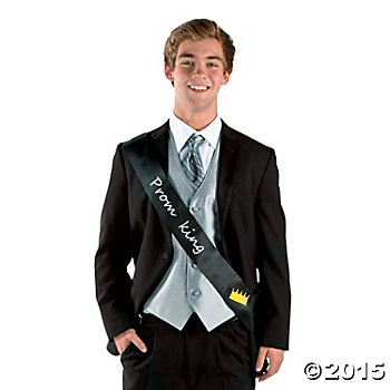 Prom King Black Sash