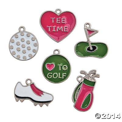 Golf Enamel Charms 24 Pack