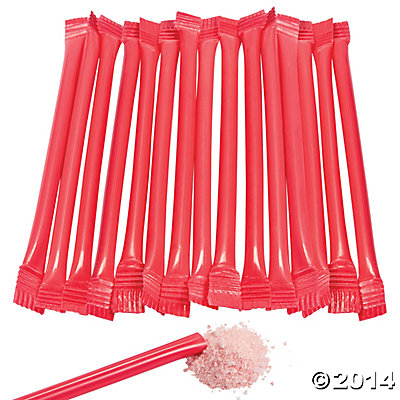 Red Candy-Filled Straws - 240 Pk