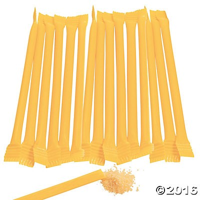 Yellow Candy-Filled Straws - 240 Pk