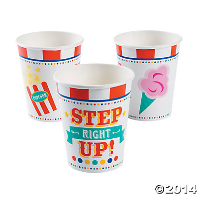 Carnival Step Right Up Cups 8 Pk