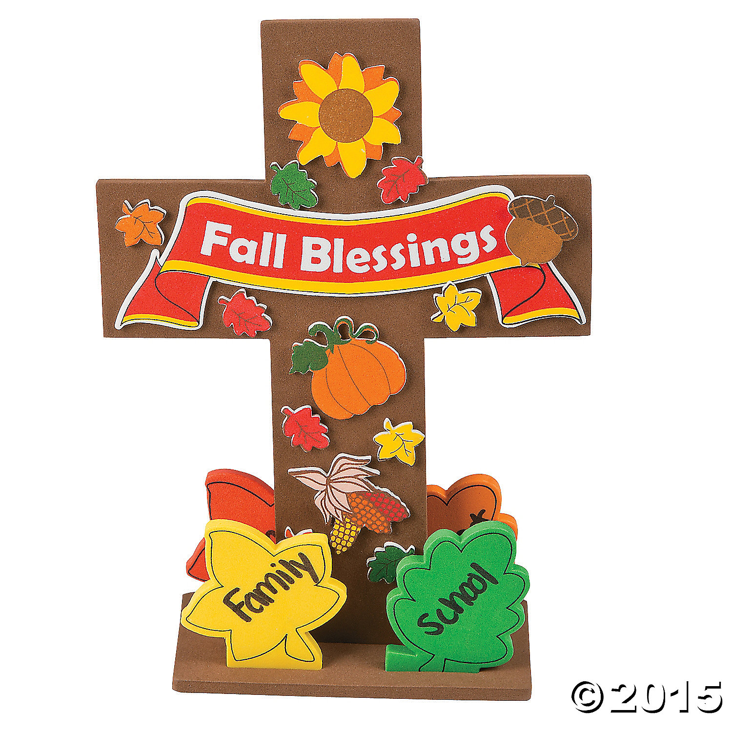 Religious fall blessing stand up cross craft kit 12 pk for Kids crafts for church