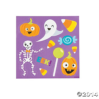 Halloween 90% Off Clearance: Sheet of 11 Stickers