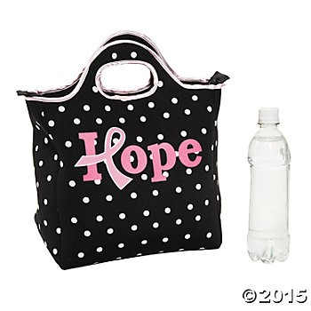 Pink Ribbon Hope Lunch Tote