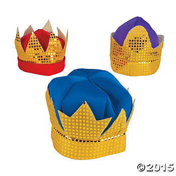 Three Kings Deluxe Crowns 3 Pk - Child