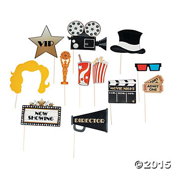 Movie Big Photo Stick Props -12pk