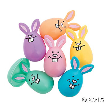 Easter Bunny Fillable Pastel Bunny Eggs - 12 Pk