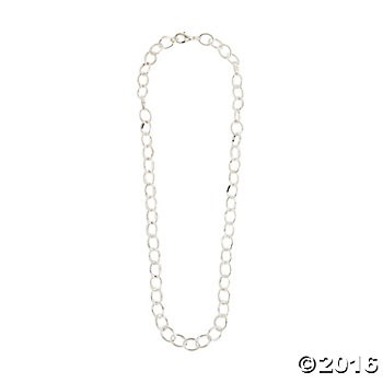 "Metal 18"" Silvertone Round Link Chain Necklace - 6pk"