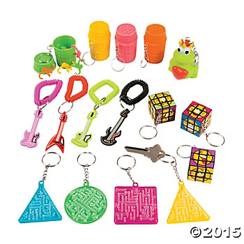 Novelty Keychain Assortment - 60 Pack