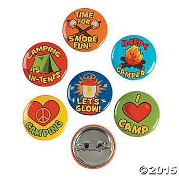 I Love Camp Metal Buttons - 48 Pack