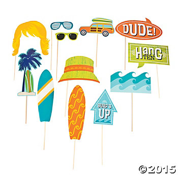 Surfs Up Big Photo Stick Props - 12 Pk