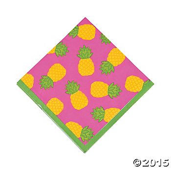 Bright Pineapple Lunch Napkins - 16 Pk