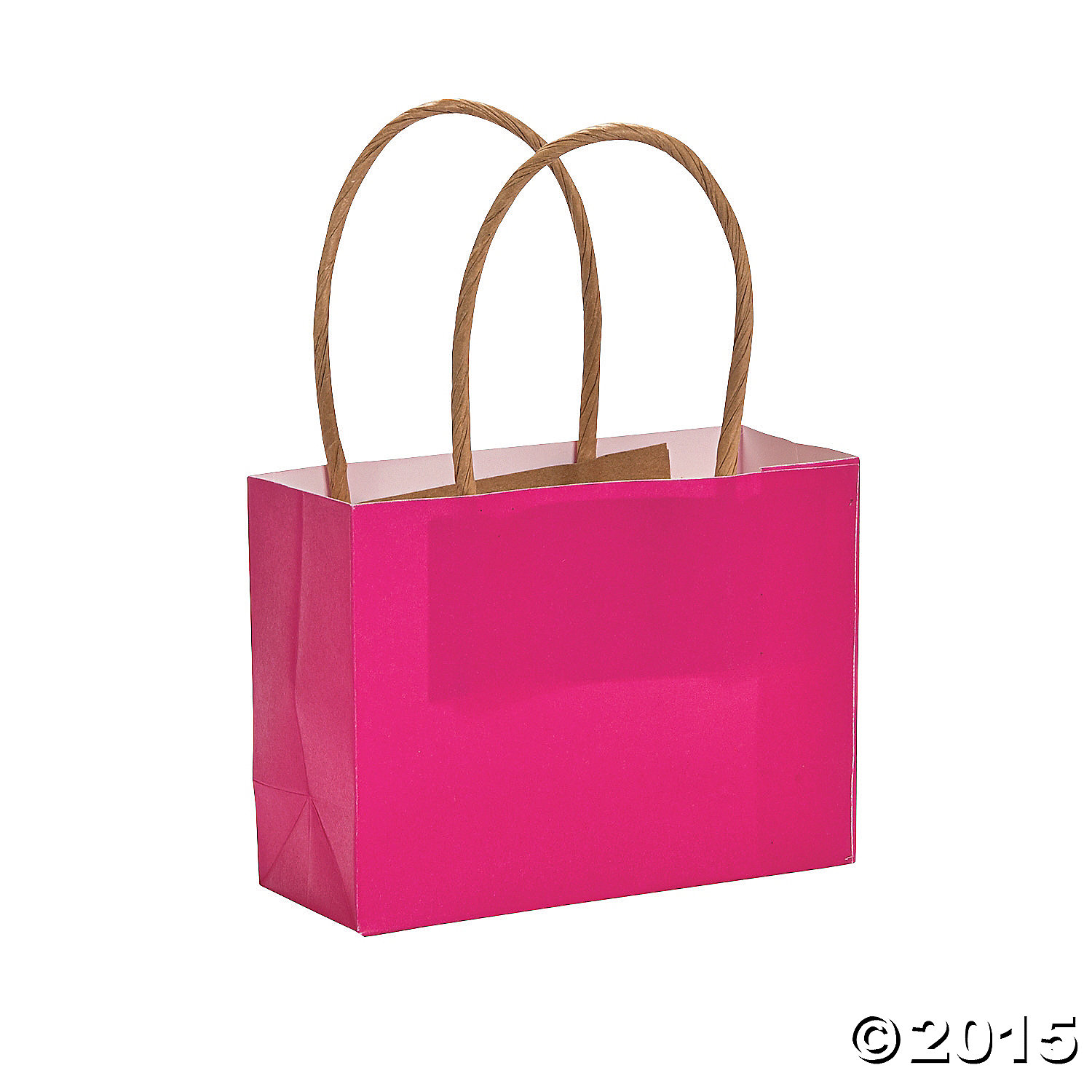 Hot Pink Small Craft Bags - 12 Pk