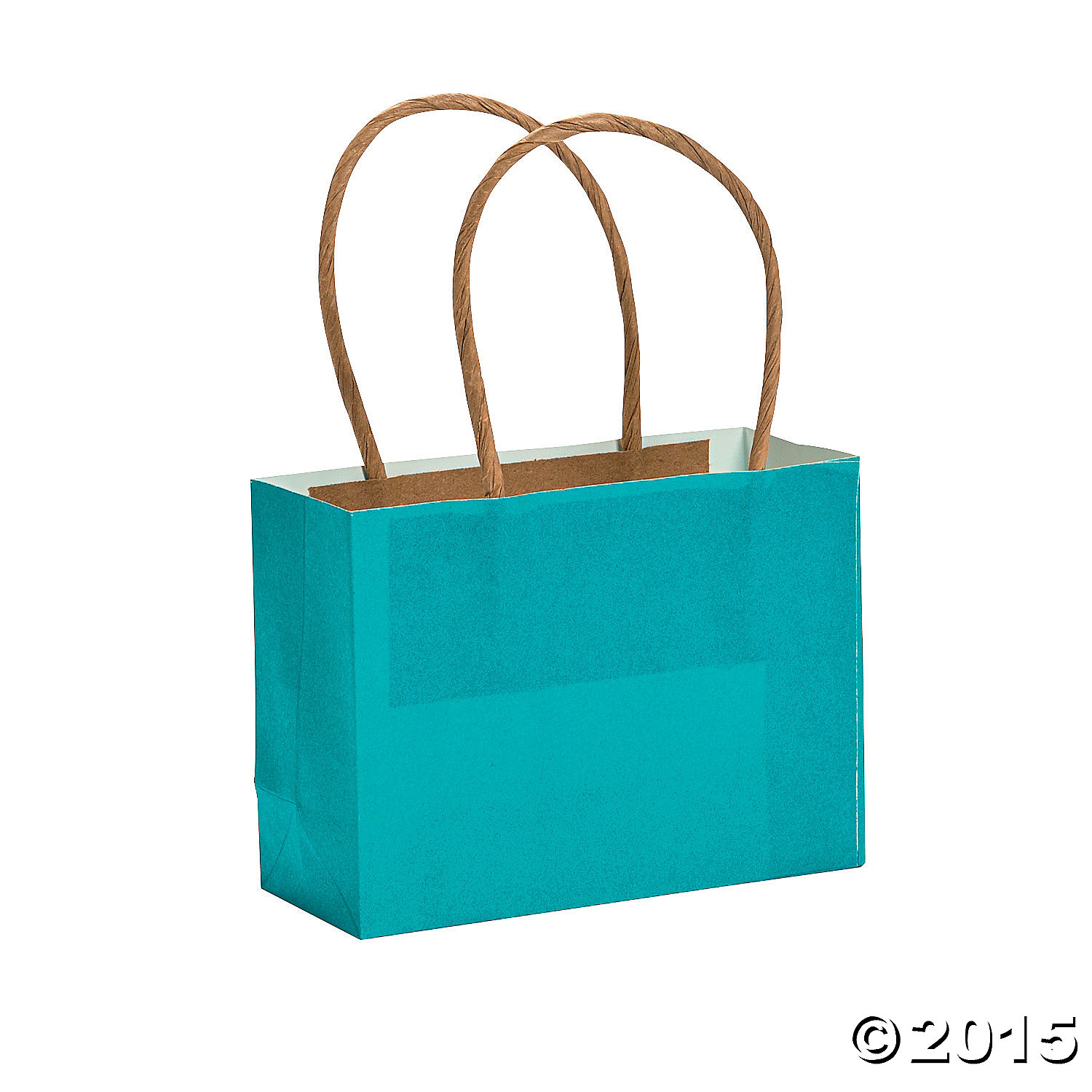 Turquoise Small Craft Bags - 12 Pk