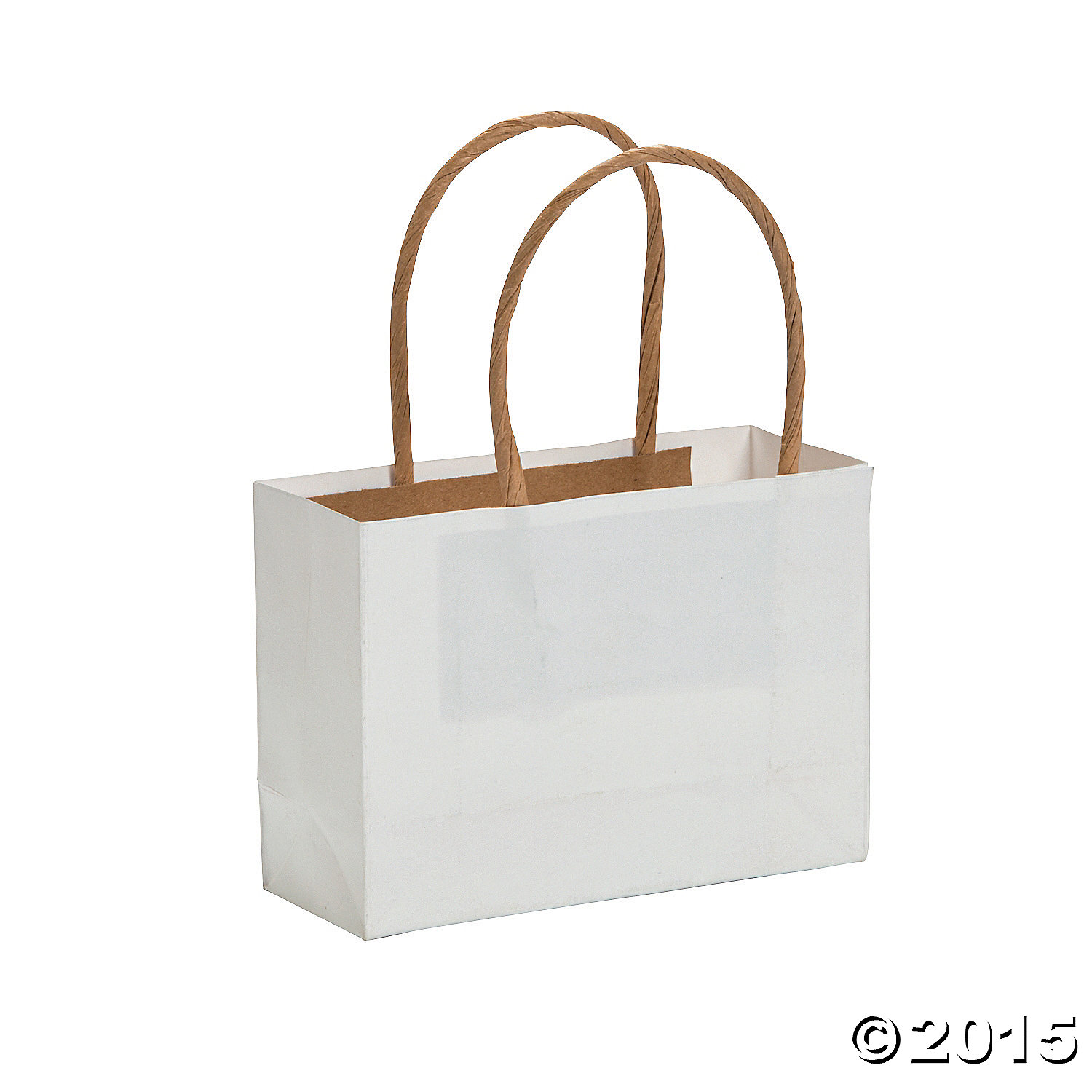 White Small Craft Bags - 12 Pk