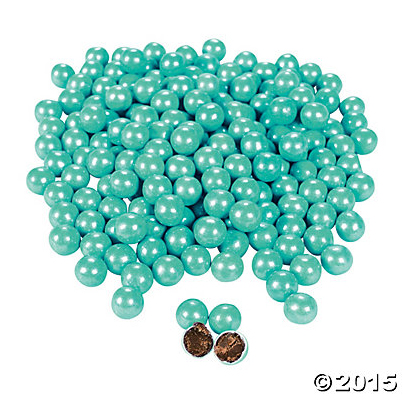 Turquoise Shimmer Chocolate Candies - 1184 Pack