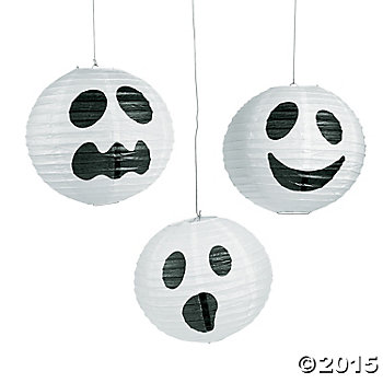 Ghost Large Lanterns - 6 Pk