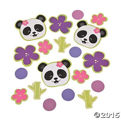Panda Party Table Plastic Confetti - Bag