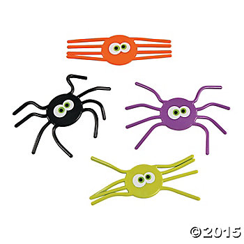 Large Vinyl Bendable Spiders - 24 Pk