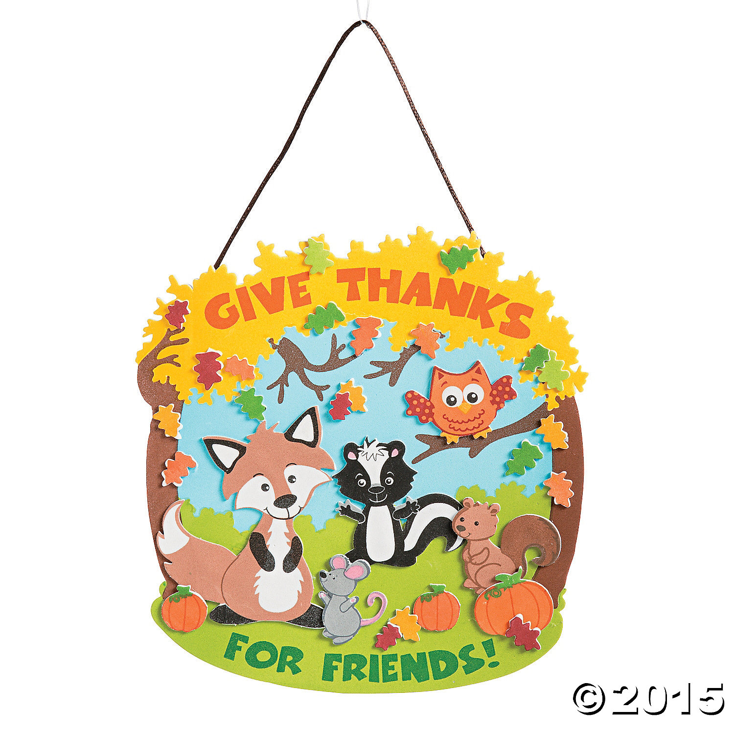 Thankful for friends sign craft kit 12 pk party supplies for Craft stores in canada